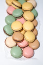 Macarons french view from above Stock Photos