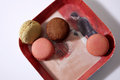 Macarons in a plate coloured paris Royalty Free Stock Photography