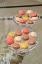 Macarons traditional french sweets on a table Stock Photo
