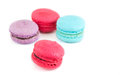 Macaroon the colorful isolated on white background Royalty Free Stock Photos