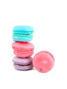 Macaroon the colorful on white background Stock Images