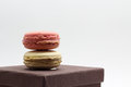 Macaroon colorful on white background Stock Photo