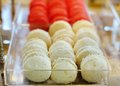 Macaroon cookies assortment of multicolored Stock Photo
