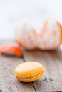 Macaroon and orange Royalty Free Stock Image