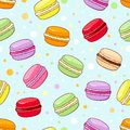 Macaroon pattern seamless vector Royalty Free Stock Images