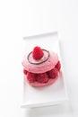 Macaroon raspberry dessert Royalty Free Stock Photo