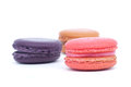Macaroons isolated on white background Stock Photography