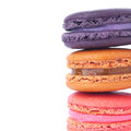 Macaroons isolated on white background Royalty Free Stock Photo