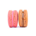 Macaroons isolated on white background Royalty Free Stock Photos