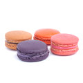 Macaroons isolated on white background Royalty Free Stock Photography