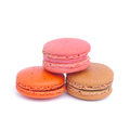 Macaroons isolated on white background Stock Images