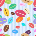 Macaroons pattern Royalty Free Stock Image