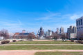 Macarthur square in milwaukee view of downtown wisconsin from Royalty Free Stock Photo