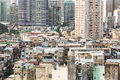 Macau residential high density island has a very population reflected in the very crowded area Royalty Free Stock Photo
