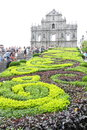 Macau ruins of st paul s the great ruined façade and staircase to the church the mother god now popularly known as is the most Royalty Free Stock Photos
