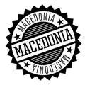 Macedonia black and white badge