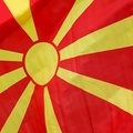 Macedonia flag of the republic of Royalty Free Stock Photo