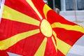 Macedonia flag republic of sun rays Stock Images
