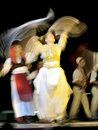 Macedonia folk dance team Royalty Free Stock Photos