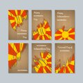 Macedonia Patriotic Cards for National Day.
