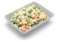 Macedonia salad, macedoine de legumes, mixed vegetable salad Royalty Free Stock Photo