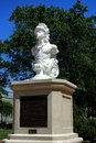 Macedonian monument at united states naval academy with hms navy ship figurehead sculpture on the campus of the in annapolis in Stock Photo