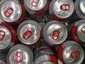 stock image of  MACEIO, AL, BRAZIL - MAY 10, 2019: Budweiser beer cans