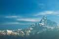 Machapuchare mountain from dhampus pokhara nepal Stock Photography