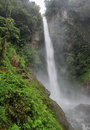 Machay waterfall known aswell as el rocio waterfall in route from banos to puyo ecuador Royalty Free Stock Photos