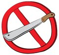 Machete weapon not allowed sign Royalty Free Stock Photo