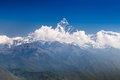 Machhapuchhre and annapurna mountains at sunrise pokhara nepal Royalty Free Stock Photography
