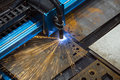 Machine for constant metal laser cutting Royalty Free Stock Photo