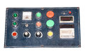 Machine control panel for paper printer Stock Photos