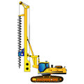 Machine for drilling holes for foundations. Vector