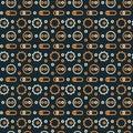 Machine gone mad pattern seamless design Royalty Free Stock Photo