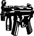 Machine gun vector illustration of a Royalty Free Stock Image