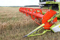 Machine harvesting Royalty Free Stock Photo