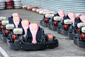 Machine karting kart before the start Royalty Free Stock Photos