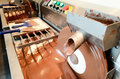 Machine making chocolate Stock Photography