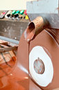 Machine making chocolate Royalty Free Stock Photo