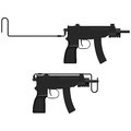 Machine pistol layered vector illustration of Stock Image