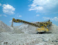 Machine produces clay Stock Photo