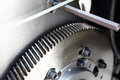 Machine steel gear wheel Royalty Free Stock Photography