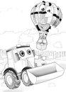 Machines artistic coloring page sketch out of cartoon style illustration for the children Royalty Free Stock Photos