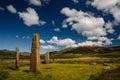 Machrie moor stones in beautiful weather isle of arran scotland Stock Image
