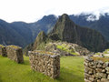 Machu Picchu, the ancient inca city of Peru Royalty Free Stock Photography