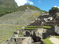Machu picchu a beautiful view of lost city Royalty Free Stock Photos