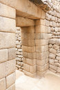 Machu Picchu:  A Double-Jamb Doorway Royalty Free Stock Images