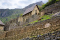 Machu Picchu Gate House Royalty Free Stock Photography
