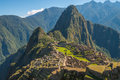 Machu Picchu and Huayna Picchu Royalty Free Stock Photo